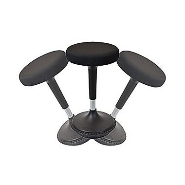 Uncaged Ergonomics Wobble Stool, Active Sitting Chair for Standing Desks, Black
