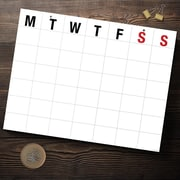 "TF Publishing Large Letters Open-Dated Calendar, 22"" x 17"" (99-8200)"
