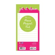 "TF Publishing Magnetic Pop Art Memo Pad, 4"" x 8"", Pink/Green (99-8508)"