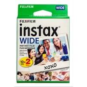 Fujifilm – Pellicule grand format Instax, 20 poses, paq./2