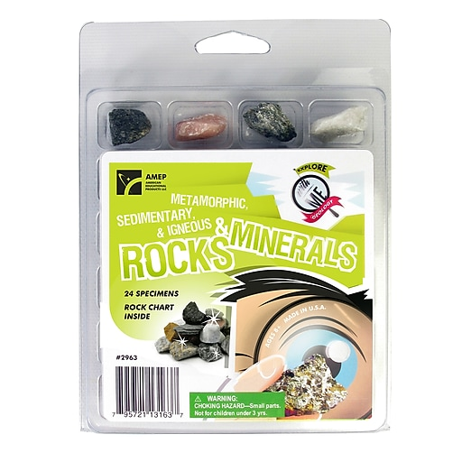 American Educational Products Explore With Me Geology Rocks & Minerals Set,  Ages 8+ (AEP2963)