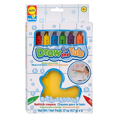Draw In The Tub Crayons, 6/Pack