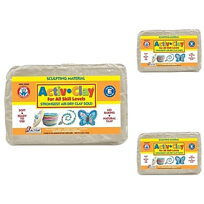 Activa® Modeling Compounds, Activ-Clay® White, 9.9 lb.