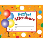 hayes perfect attendance certificate reward seal staples