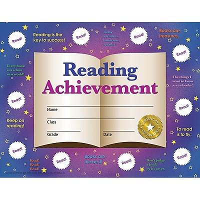 Hayes® Reading Achievement Certificates, 30/Pack