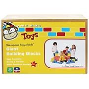 Smart Monkey Toys ImagiBRICKS Giant Building Block Set, 24/Set (IMA1024)