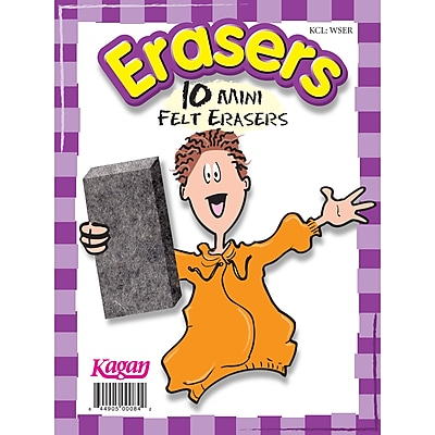 Kagan Erasers, bundle of 6 (KA-WSER)