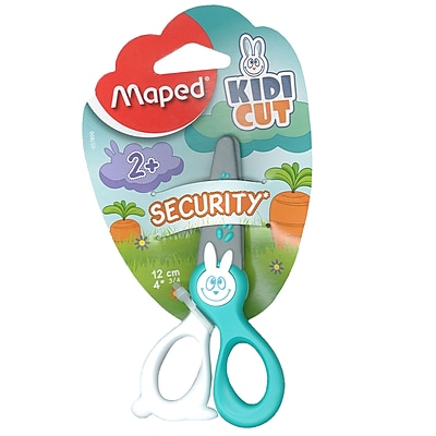 Maped USA KIDCUT Safety Scissors, Blunt Tip, 12 packs of 1 (MAP037800)