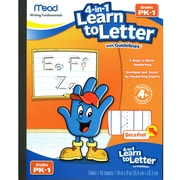 "Mead 4-in-1 Learn to Letter with Guidelines, 10"" x 8"", 40 sheets (MEA48112)"