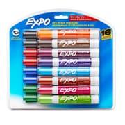 Expo® Low-Odor Chisel Tip, Dry Erase Markers, Asstd Colors, 16/pkg (SAN81045)
