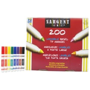 Sargent Art® Washable Markers Best-Buy Assortment, 8 Colors, 200/Markers