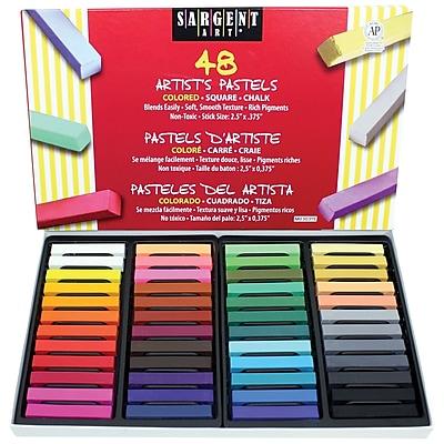 Sargent Art® Color Artists Chalk Pastels, Assorted, 48/Box