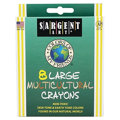 Sargent Art® Colors of My Friends® Large Multicultural Crayons, 8/Box