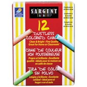 "Sargent Art® 3 1/4"" Dustless School Chalks, Assorted, 12/BX, 18 BX/BD"