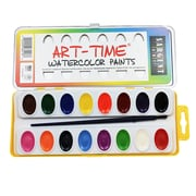 Sargent Art Art-Time Semi- Moist Oval Watercolor Set, 16 Colors (SAR668218)