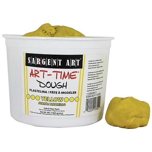 Sargent Art Art-Time Dough, Yellow, 3 lb. (SAR853302)