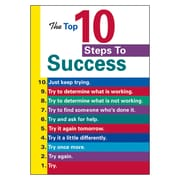 Trend® Educational Classroom Posters, The top 10 steps to success