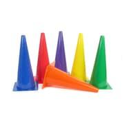 American Educational, Rigid Plastic Cones 18In Set of 6, Asorted Colors (AEPYTB022)