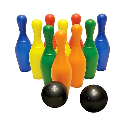 American Educational Products® Plastic Bowling Set With Pins and Bowling Balls