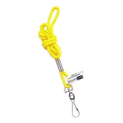 Baumgartens® Standard Lanyard, Yellow, 2/Bd