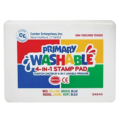 Center Enterprises® 4-in-1 Washable Stamp Pad, Primary