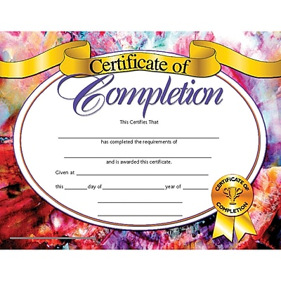 Hayes® Certificate of Completion, 8 1/2