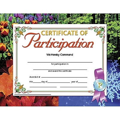 Hayes® Certificate of Participation, 8 1/2