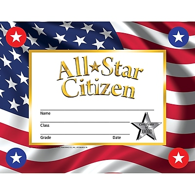 Hayes Certificates & Diplomas, All Star Citizen