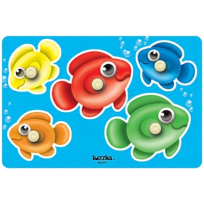 Platapilla USA Bubble Fish Peg Puzzle (PPAKN074)