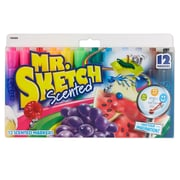 MR. SKETCH Chisel Tip, Scented Markers, 12-Color Set (SAN1905069)