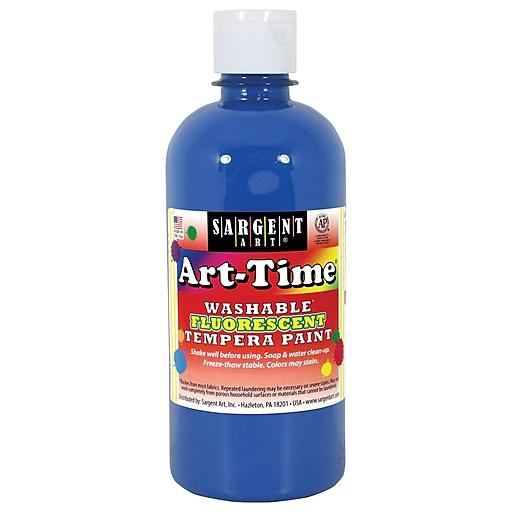 sargent art art time washable fluorescent tempera paint 16oz