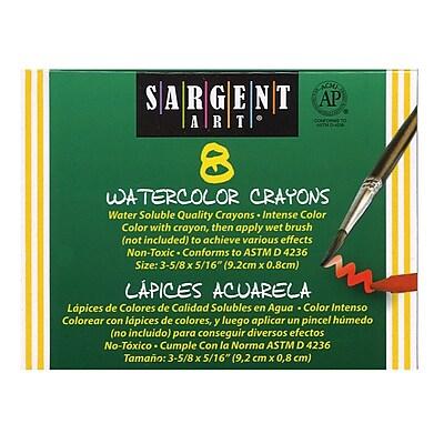 Sargent Art® Watercolor Crayon, 8/BX, 4 BX/BD