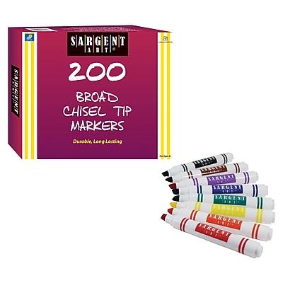 Sargent Art® Best-Buy Washable Marker Assortment, Classic Chisel Tip, 200 Count (SAR221595)