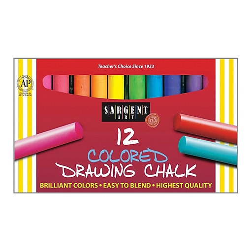 Sargent Art Colored Drawing Chalk, Assorted Colors, 12 Count (SAR224132)
