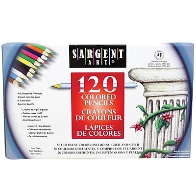 Sargent Art Colored Pencil Set, Assorted, 120/Pack