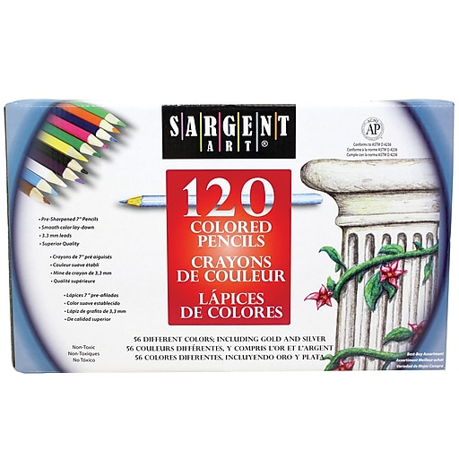 sargent art colored pencil set assorted 120 pack staples