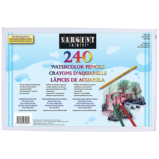 sargent art sar227253 pre sharpened assorted watercolor pencil 7