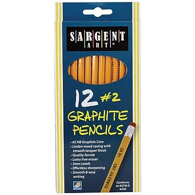 Sargent Art® HB Graphite Unsharpened Pencil, 12/Pack (SAR227291)