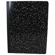 """Sargent Art® 9.75"""" x 7.5"""" 100-Sheet Blank Page Hard Cover Composition Book, Black"""