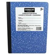 "Sargent Art® 9.75"" x 7.5"" 100-Sheet Hard Cover Composition Book, Blue"