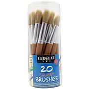 Sargent Art® Jumbo Brushes Wooden Handles, 20/Pack