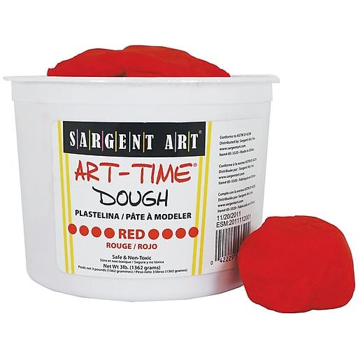 Sargent Art Art-Time Dough, Red, 3 lb. (SAR853320)