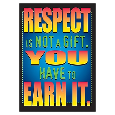Trend ARGUS Poster, Respect is not a gift. You have to earn it.