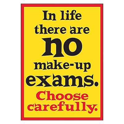Trend ARGUS Poster, In life there are no make-up exams...