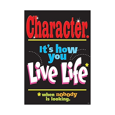Trend® Educational Classroom Posters, Character. It's how you live life when…