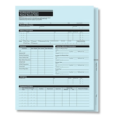 ComplyRight™ Confidential Personnel File Folder, Pack of 25 (A221)