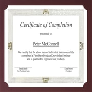 St. James® Presentation Cards/Certificate Holders, Non-Folding, Linen, Burgundy, 25/Pack