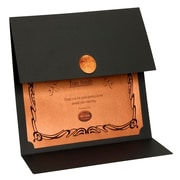 St. James® Elite Medallion Fold Certificate Holders Linen with Copper Medallion, 5/Pack
