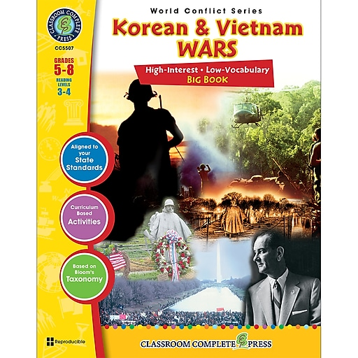 Classroom Complete Press World Conflict Series Korean & Vietnam Wars Big Book, Grades 5 - 8 (CCP5507)
