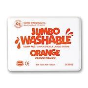 Center Enterprises Jumbo Washable Stamp Pad, Orange Ink (CE-5502)